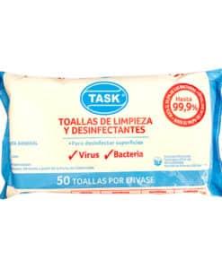 TOALLA DESINFECTANTE ANTIVIRAL TASK X50